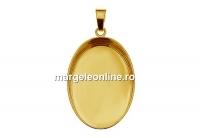 Baza pandantiv, ag925 pl cu aur, pentru cabochon 25x18mm - x1