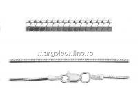 Lant hexagonal 1.5mm, masiv, argint 925, 50cm - x1