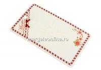 Carton martisor, flori, 10x6cm- x50