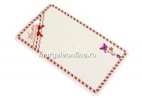 Carton martisor, fluturas, 10x6cm- x50
