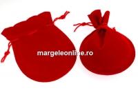 Saculet catifea, rosu, 14x10cm - x5