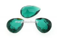 Swarovski, fancy picatura, emerald unfoiled, 10x7mm - x1