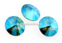 Swarovski, rivoli, light turquoise glacier blue, 12mm - x2
