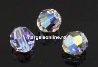 Swarovski, margele, fatetat, crystal shimmer, 8mm - x2
