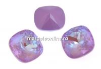 Swarovski, fancy square, lavender DeLite, 10mm - x1