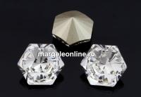 Swarovski, fancy Kaleidoscope hexagon, crystal, 9.4mm - x1