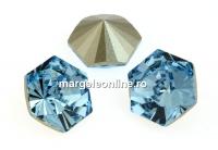 Swarovski, fancy Kaleidoscope hexagon, aquamarine, 6mm - x2