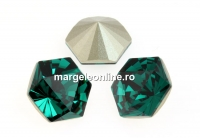 Swarovski, fancy Kaleidoscope hexagon, emerald, 6mm - x2
