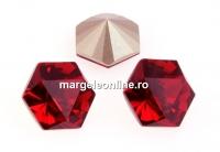 Swarovski, fancy Kaleidoscope hexagon, scarlet, 6mm - x2