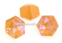 Swarovski, fancy Kaleidoscope hexagon, peach DeLite, 9.4mm - x1