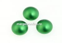 Swarovski, cabochon perla cristal, eden green, 6mm - x2
