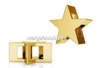 Pandantiv stea, argint 925 placat cu aur, 10mm - x1