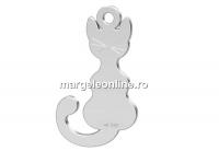 Pandantiv pisicuta, argint 925, 16x9mm - x1