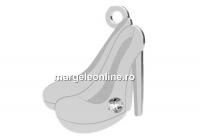 Pandantiv pantofi cu cristal, argint 925, 16.5x12mm - x1