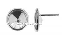 Tortite cercei pentru rivoli 10mm, argint 925 - x1per