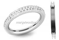 Baza inel pave argint 925,16.5mm, pentru crystale Swarovski - x1
