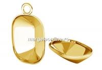 Baza pandantiv ag 925 pl. cu aur, pt Swarovski 4568 de 14x10mm - x1