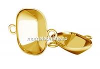 Baza link ag 925 placat cu aur, pt Swarovski 4568 de 14x10mm - x1