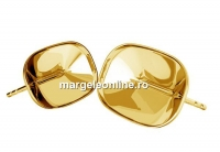 Tortite cercei ag 925 pl. cu aur, pt Swarovski 4568 de 14x10mm - x1per