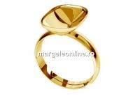 Baza inel ag 925 pl. cu aur, pt Swarovski 4568 de 14x10mm, reglabil  - x1