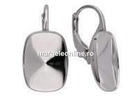 Tortite cercei argint 925, pt Swarovski 4568 de 14x10mm model 2 - x1per