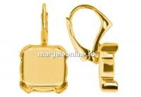 Tortite ag 925 pl cu aur patrat pt Swarovski 4470 si 4461 12mm - x1per