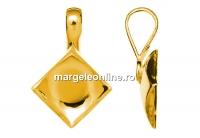 Baza pand. ag 925 pl cu aur, pt. cabochon Swarovski 2493 de 10mm - x1
