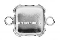 Baza link argint 925 patrat pt Swarovski 4470 si 4461 de 12mm - x1