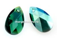 Swarovski, pandantiv picatura, emerald shimmer, 22mm - x1