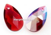 Swarovski, pandantiv picatura, scarlet shimmer, 16mm - x1