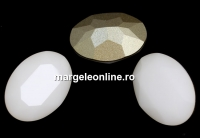 Swarovski, rivoli cabochon oval, white alabaster, 14x10mm - x1