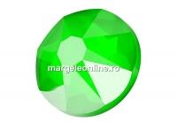 Swarovski, cabochon, SS34 hotfix, electric green, 7mm - x4
