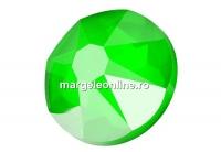 Swarovski, cabochon SS30, electric green, 6mm - x4