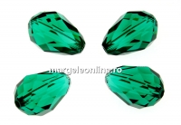 Swarovski, margele picatura, emerald, 9x6mm - x2