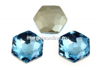 Swarovski 4683, fantasy hexagon, aquamarine, 10mm - x1