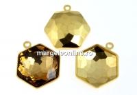 Baza pandantiv placat cu aur pt Swarovski 4683 de 10mm - x1