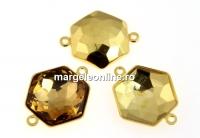 Baza link placat cu aur pt Swarovski 4683 de 12mm - x1