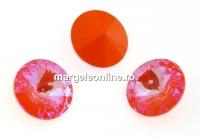 Swarovski, rivoli, Orange Glow DeLite, 14mm - x1