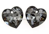 Swarovski, pandantiv inima, silver night, 14.5mm - x1