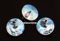 Swarovski, pandantiv rivoli, crystal shimmer, 8mm - x4