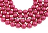 Perle Swarovski, mulberry pink, 8mm - x50