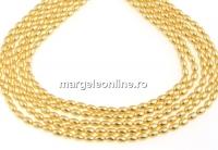 Perle Swarovski, gold, 4x3mm - x100