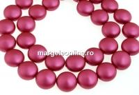 Perle Swarovski disc, mulberry pink pearl, 10mm - x10