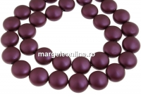 Perle Swarovski disc, elderberry pearl, 10mm - x10