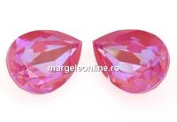 Swarovski, fancy picatura, Lotus Pink DeLite, 14x10mm - x1