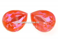 Swarovski, fancy picatura, orange glow delite, 14x10mm - x1