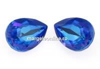 Swarovski, fancy picatura, royal blue delite, 14x10mm - x1