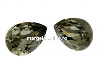 Swarovski, fancy picatura, black diamond, 4x2.9mm - x4