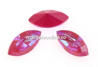 Swarovski navette, fancy chaton, Lotus Pink DeLite, 10mm - x4