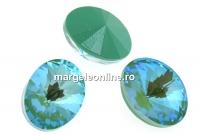 Swarovski, fancy oval, Silky Sage DeLite, 14x10.5mm - x2
